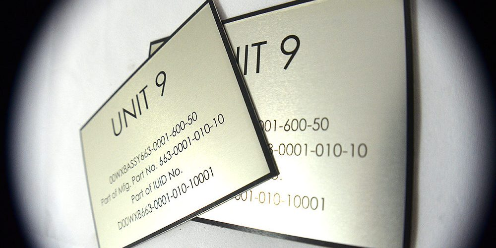 Aluminum Data Plates